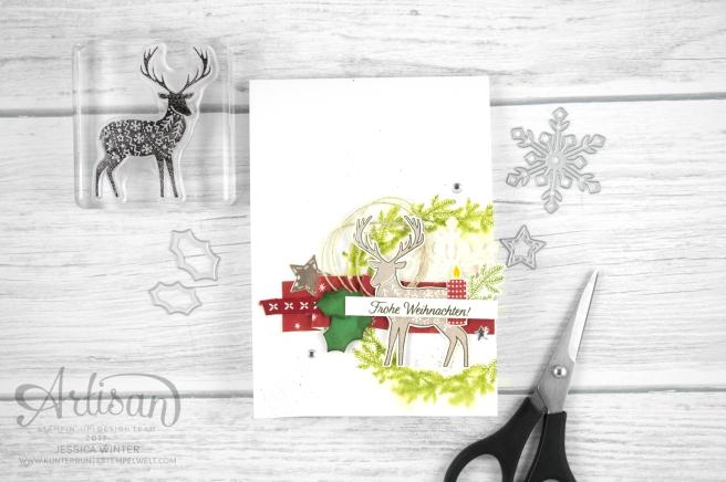 Stampin´ Up! - Artisan Design Team - Freude im Advent - Designerppapier Voller Vorfreude - Thinlitsformen Geschmückte Stiefel - 1