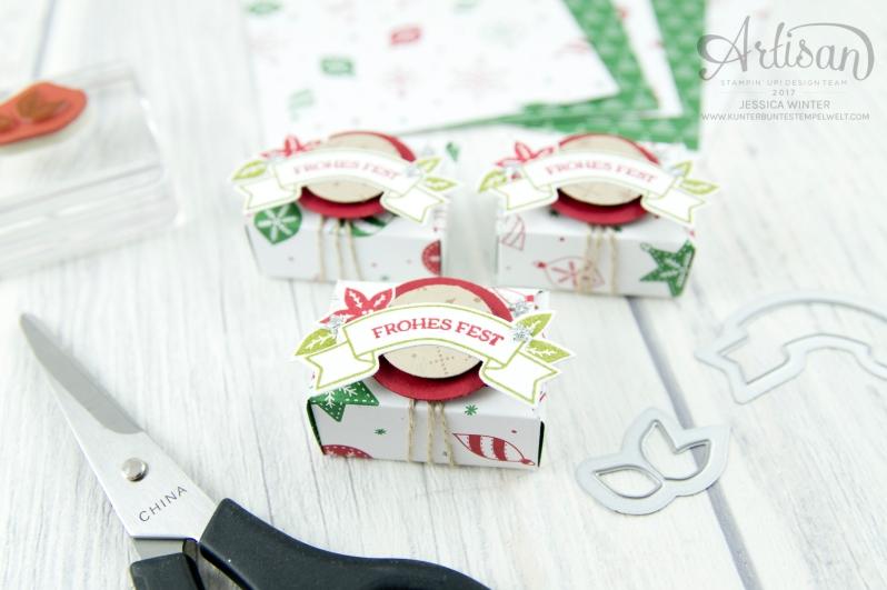 Stampin´ Up - Artisan Design Team - Wie ein Weihnachtslied - Designerpapier Voller Vorfreude - Thinlitsformen Festtags Design - 5
