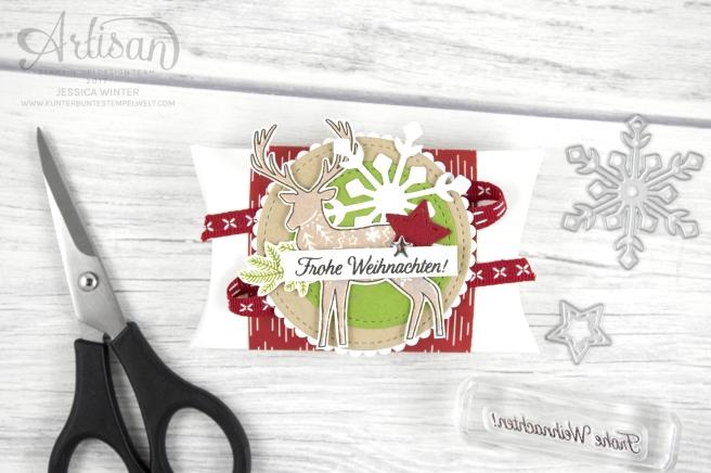 Stampin´ Up! - Artisan Design Team - Freude im Advent - Designerppapier Voller Vorfreude - Thinlitsformen Geschmückte Stiefel - 6