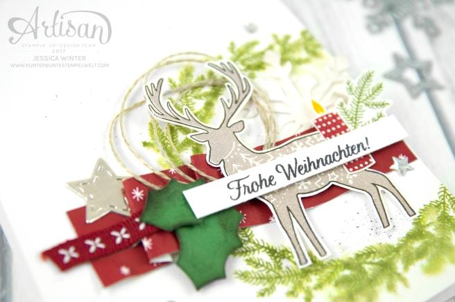 Stampin´ Up! - Artisan Design Team - Freude im Advent - Designerppapier Voller Vorfreude - Thinlitsformen Geschmückte Stiefel - 2