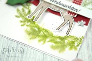 Stampin´ Up! - Artisan Design Team - Freude im Advent - Designerppapier Voller Vorfreude - Thinlitsformen Geschmückte Stiefel - 3