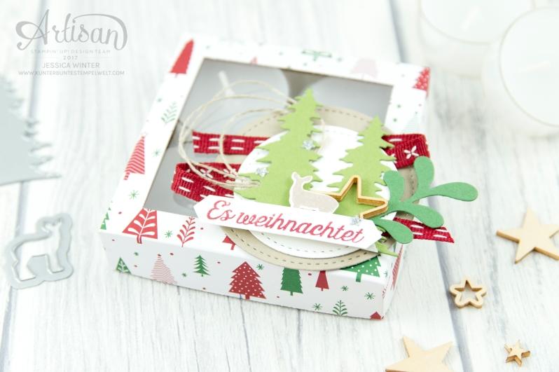 Stampin´ Up - Artisan Design Team - Wie ein Weihnachtslied - Designerpapier Voller Vorfreude - Thinlitsformen Festtags Design - 1
