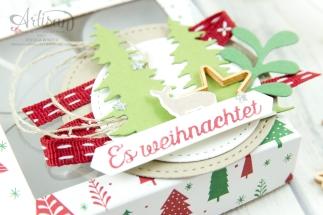 Stampin´ Up - Artisan Design Team - Wie ein Weihnachtslied - Designerpapier Voller Vorfreude - Thinlitsformen Festtags Design - 2