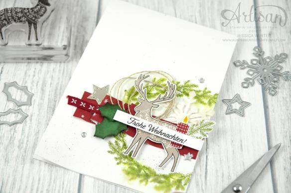 Stampin´ Up! - Artisan Design Team - Freude im Advent - Designerppapier Voller Vorfreude - Thinlitsformen Geschmückte Stiefel - 5