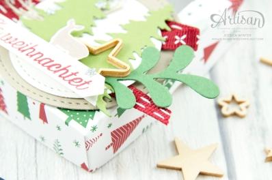 Stampin´ Up - Artisan Design Team - Wie ein Weihnachtslied - Designerpapier Voller Vorfreude - Thinlitsformen Festtags Design - 3
