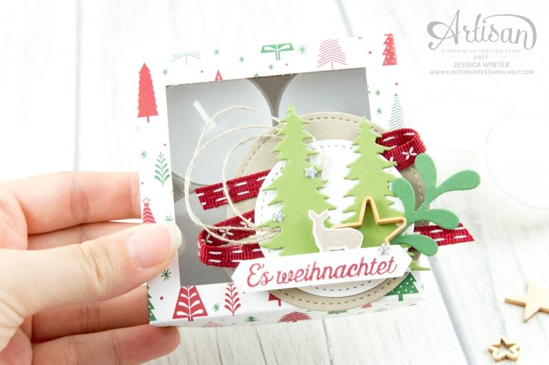 Stampin´ Up - Artisan Design Team - Wie ein Weihnachtslied - Designerpapier Voller Vorfreude - Thinlitsformen Festtags Design - 4