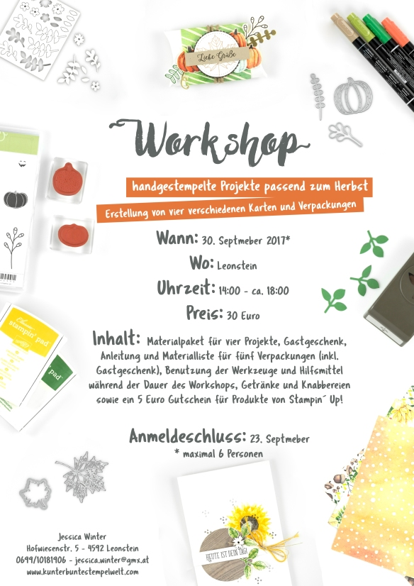 Stampin´ Up!_ workshop_basteln_oberöstereich_artisan design team_herbst