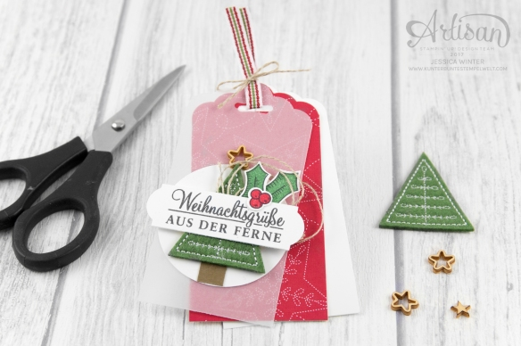 Stampin´ Up!_Adventsgrün_Elementstanze Adventschmuck_Designerpapier Weihnachtsquilt_Bestickte Filz-Accessoires_1