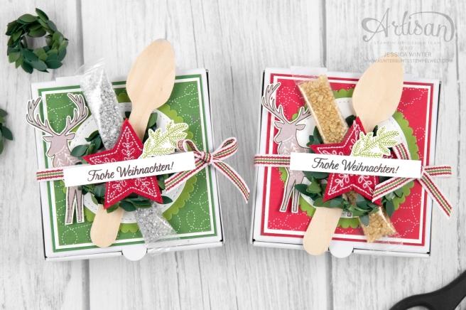 Stampin´ Up! _ Freude im Advent _ Designerpapier Weihnachtsquilt _ bestickte Filz Accessoires _ 1