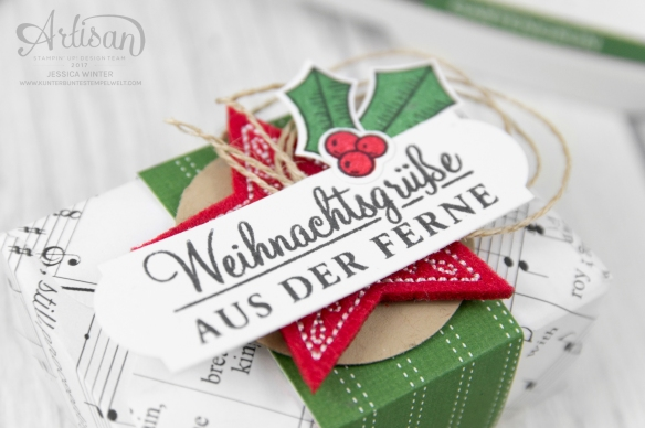 Stampin up_Designerpapier Weihnachtslieder_Envelope Punch Board_Adventsgrün_Elementstanze Adventschmuck_2