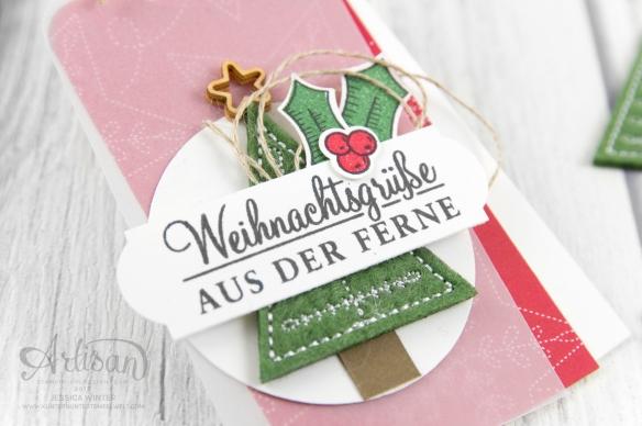 Stampin´ Up!_Adventsgrün_Elementstanze Adventschmuck_Designerpapier Weihnachtsquilt_Bestickte Filz-Accessoires_2