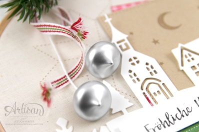 Stampin´ Up! _ Stickrahmen _ Edgelits Winterstädtchen _ Designerpapier Weihnachtsquilt _ Filzaccessoires _ 2