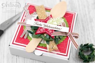 Stampin´ Up! _ Freude im Advent _ Designerpapier Weihnachtsquilt _ bestickte Filz Accessoires _ 2