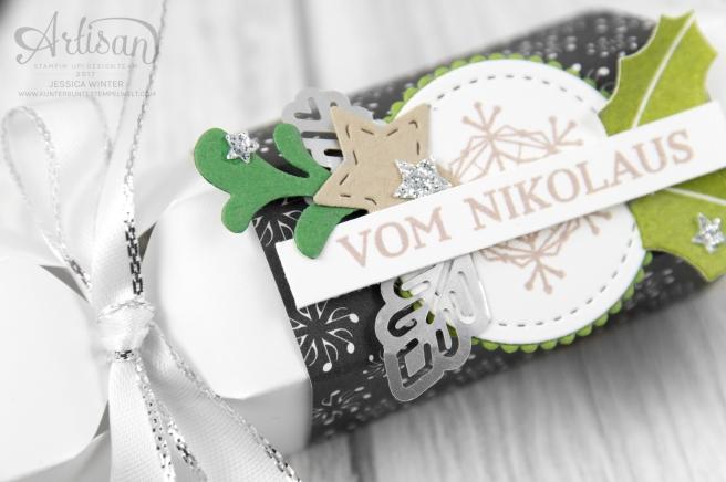 Stampin´ Up!_ besonderes Designerpapier Weihnachtslieder_Produktpaket Gut Geschmückt_Knallbonbon_Anleitung_Fröhliche Weihnachten_2