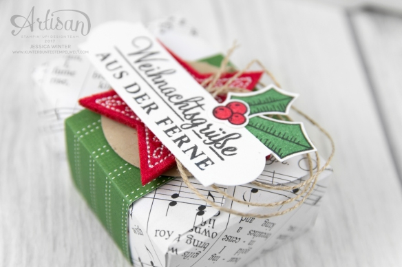 Stampin up_Designerpapier Weihnachtslieder_Envelope Punch Board_Adventsgrün_Elementstanze Adventschmuck_3