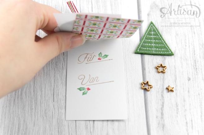 Stampin´ Up!_Adventsgrün_Elementstanze Adventschmuck_Designerpapier Weihnachtsquilt_Bestickte Filz-Accessoires_3