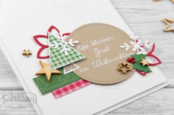 Stampin´ Up! _ Designerpapier Weihnachtsquilt _ Weihnachtsquilt _ Framelits Formen Quilt _ bestickete Filz Accessoires _3