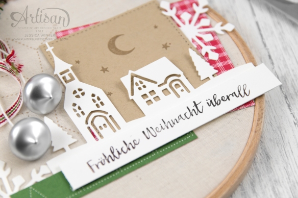 Stampin´ Up! _ Stickrahmen _ Edgelits Winterstädtchen _ Designerpapier Weihnachtsquilt _ Filzaccessoires _ 4
