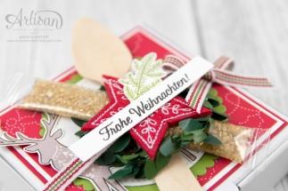 Stampin´ Up! _ Freude im Advent _ Designerpapier Weihnachtsquilt _ bestickte Filz Accessoires _ 3