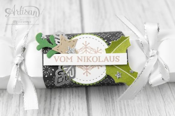 Stampin´ Up!_ besonderes Designerpapier Weihnachtslieder_Produktpaket Gut Geschmückt_Knallbonbon_Anleitung_Fröhliche Weihnachten_3