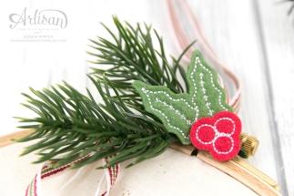 Stampin´ Up! _ Stickrahmen _ Edgelits Winterstädtchen _ Designerpapier Weihnachtsquilt _ Filzaccessoires _ 3