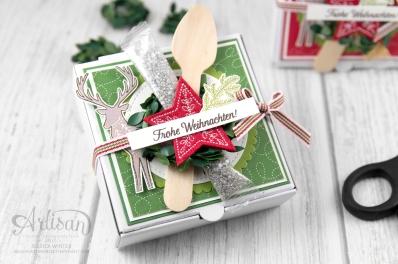 Stampin´ Up! _ Freude im Advent _ Designerpapier Weihnachtsquilt _ bestickte Filz Accessoires _ 4