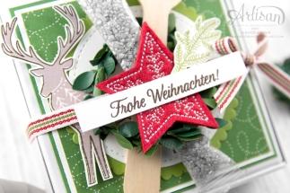 Stampin´ Up! _ Freude im Advent _ Designerpapier Weihnachtsquilt _ bestickte Filz Accessoires _ 5