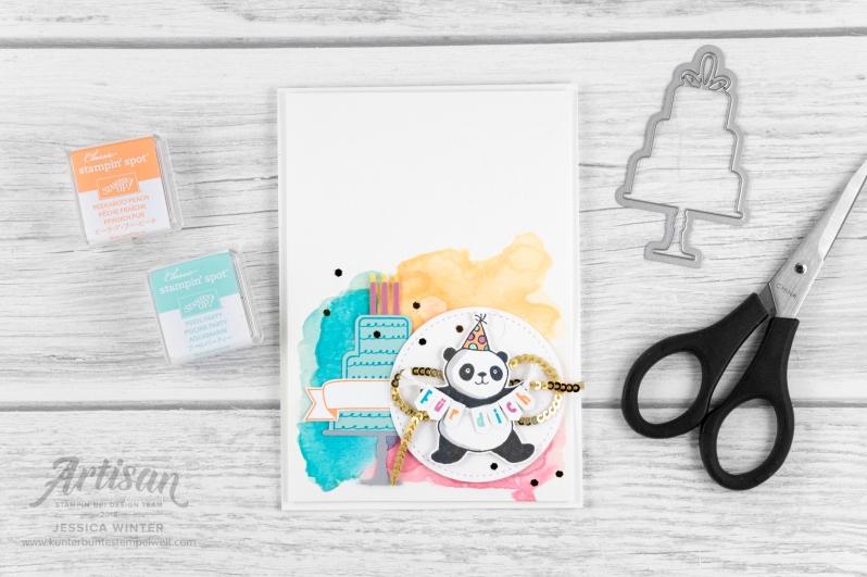 stampin up _ party pandas _ produktpaket grund zum feiern _ aqua painter- aquarell hintergrund _ 2