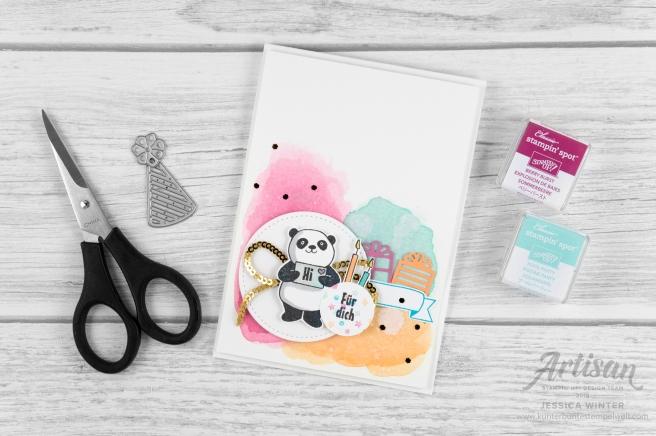 stampin up _ party pandas _ produktpaket grund zum feiern _ aqua painter- aquarell hintergrund _ 8