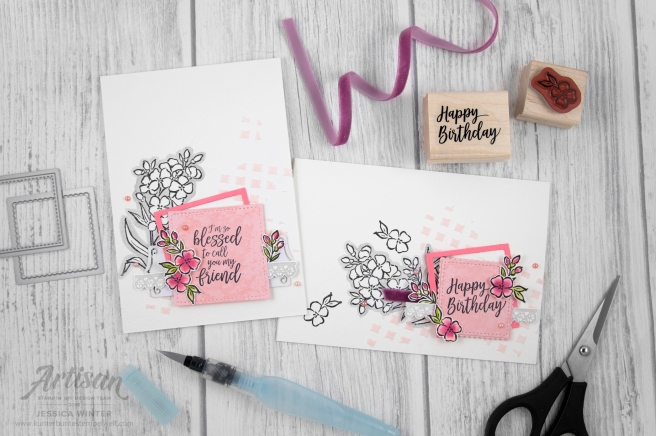 Stampin up _ southern serenade _ lagenweise quadrate _ 1