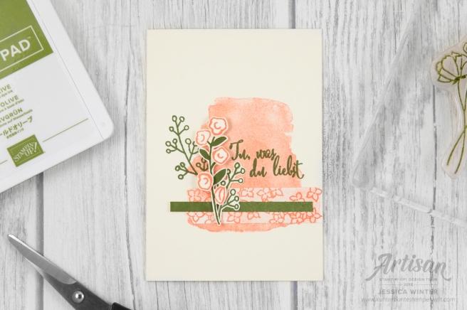 Stampin´ Up! _ Artisan Design Team _ Geteilte Leidenschaft _ erste Schritte _ Grapefruit _ Tu was du liebst _ Olivgrün _ 8