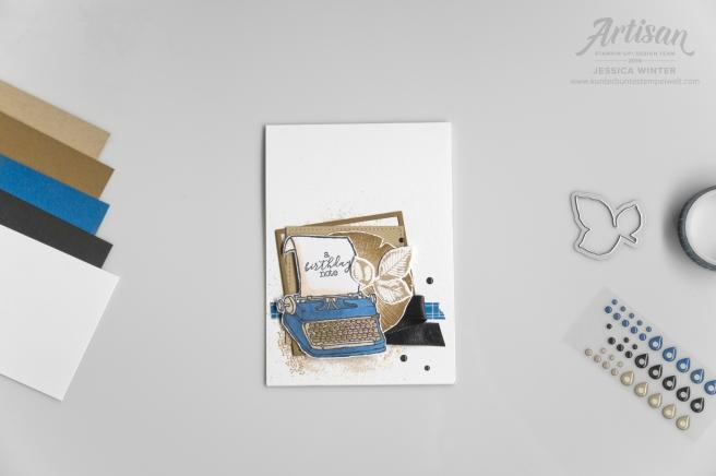 Stampin´ Up! Geburtstagskarte für Männer mit dem Stempelset P.S. you´re the Best und Kraft der Natur. Meine kunterbunte Stempelwelt