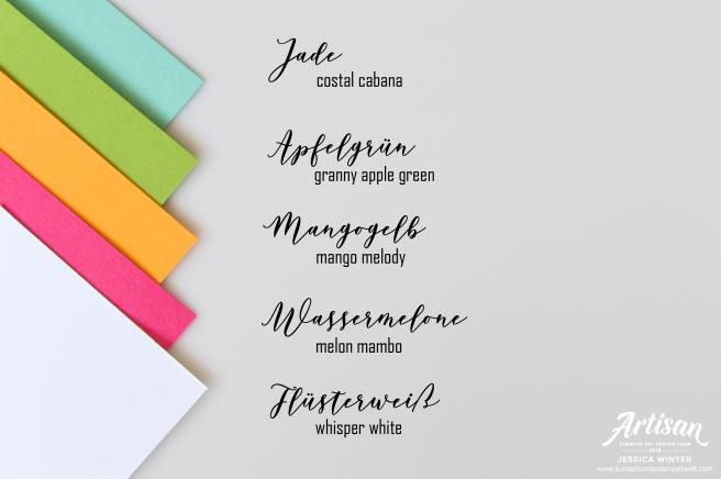 Stampin´ Up Farbkombination für das Stempelset Blütenzauber. Meine kunterbunte Stempelwelt